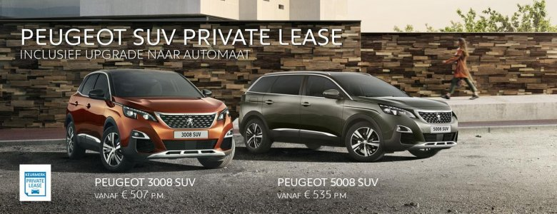 Peugeot SUV Private Lease
